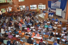 Cross section of the hall during pubic lecture